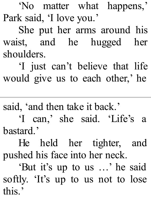 eleanor and park is such a good little read :D