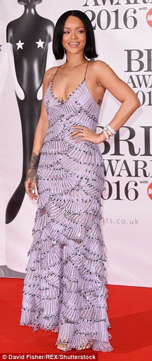 Rihanna, Adele and Kylie Minogue arrive on the 2016 Brit Awards red carpet   Daily Mail Online