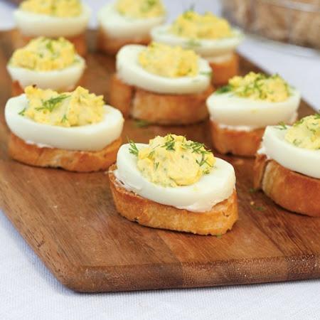 Deviled Egg Crostini | Recipe | Deviled Eggs, Crostini Recipes and ...