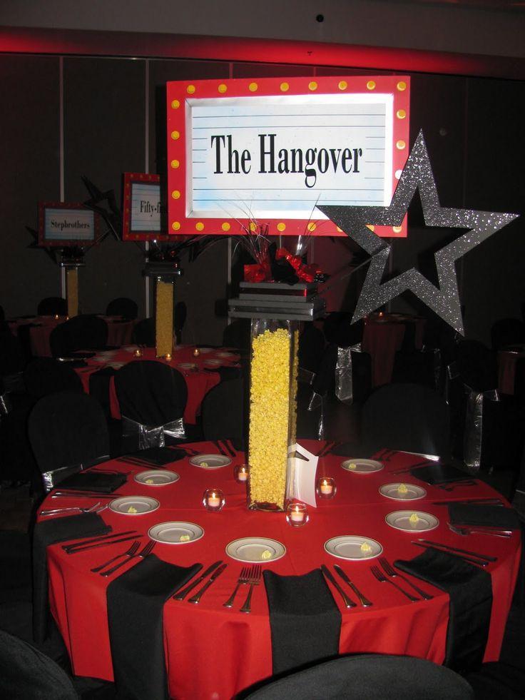 Movie Centerpiece Evento Xv Party Hollywood