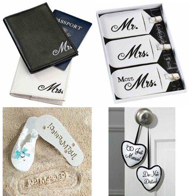 Honeymoon Gift Package, Includes: Mr and Mrs Passport Cover, Mr and Mrs Luggage Set, Just Married - Do Not Disturb Door Hanger and Just Married Flip Flops ** Insider's special review you can't miss. Read more  : Travel accessories
