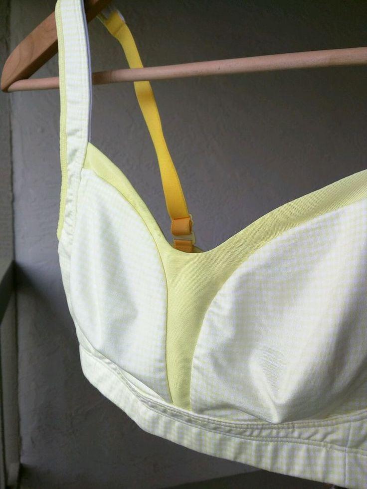 Lululemon Athletica Ta Ta Tamer Sports Bra Size 34D Light Yellow Plaid/ Yellow #LululemonAthletica #SportsBras