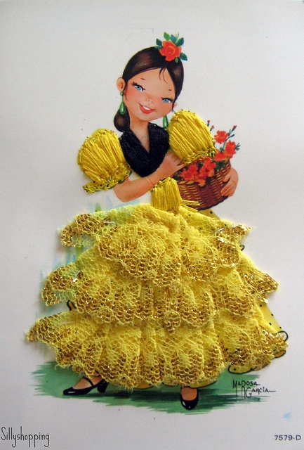 "Spanish Flamenco*1500 free paper dolls at Arielle Gabriel""s The International Paper Doll Society and free Chinese Japanese paper dolls at The China Adventures of Arielle Gabriel *"