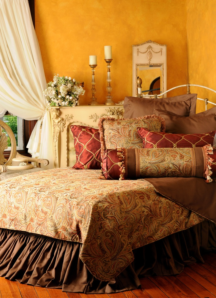Tuscan Bedroom, how Warm & Cozy!! (1) From: Bedding Gift, please visit