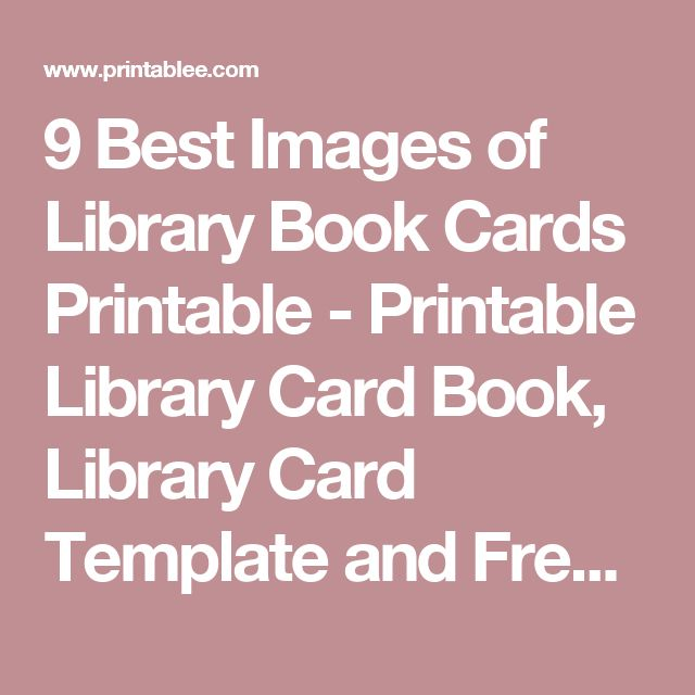 33 best Book Club Bash images on Pinterest Book clubs, Books and - library card template
