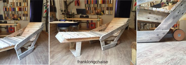 """franklongchaise"" comfortable from pallet"