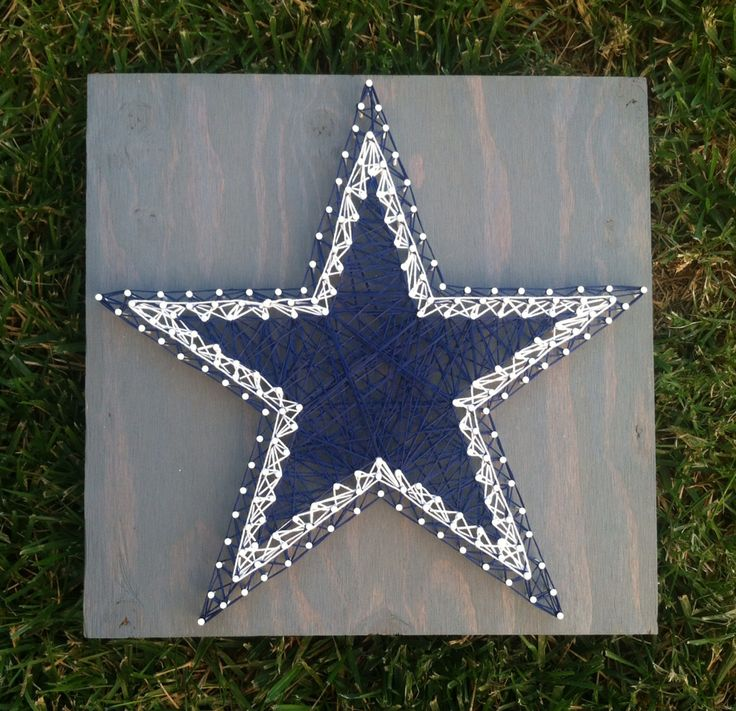 12x12 Dallas Cowboys Star. String Art.