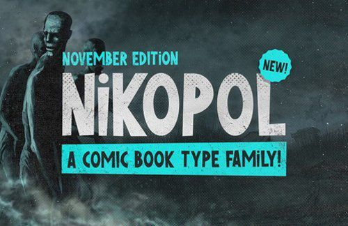 Nikopol Comic Book Font by TheDesignBank on Etsy