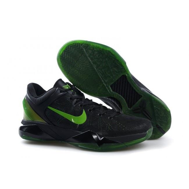 Nike Zoom Kobe Vii System Supreme Mens Basketball Shoes Green Black TopDeals