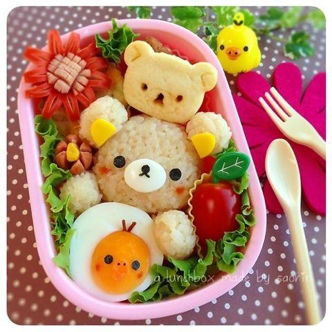 日本人のごはん/お弁当 Japanese meals/Bento リラックマ弁当 *Rilakkuma Bento*