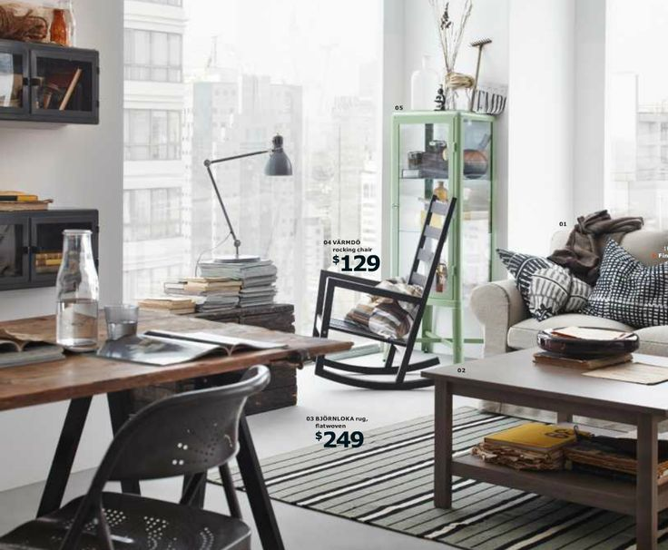 25 Cool Decorating Tricks from IKEA '14 Catalog - Placing a rocking chair in front of a window can help you get away from it all without even leaving the house.