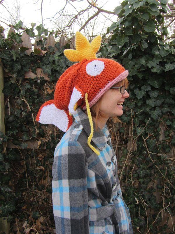 Crocheted Pokémon Magikarp Hat Might Swallow Your Head