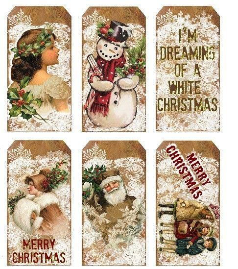 Kerst labels (LT063) | Kerst | Doornroosjes - cute Christmas tags
