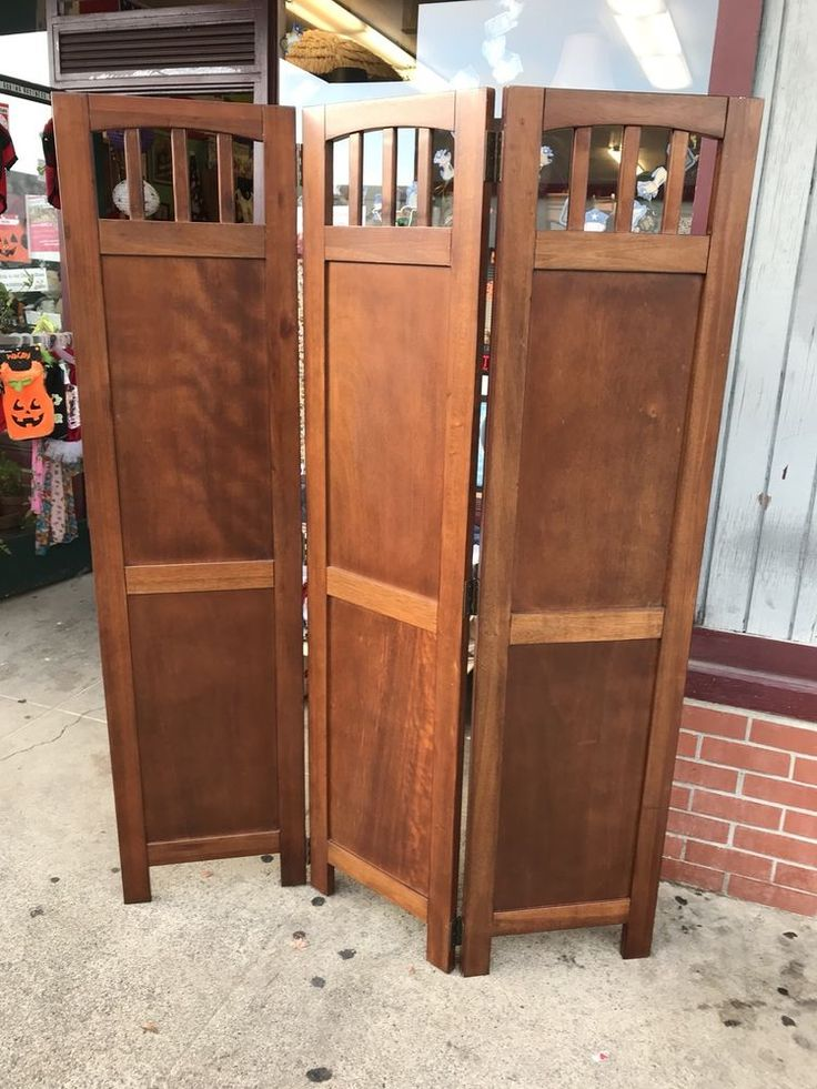 Wooden Room Divider Panel Stained 51 X 70 Inches Local ...