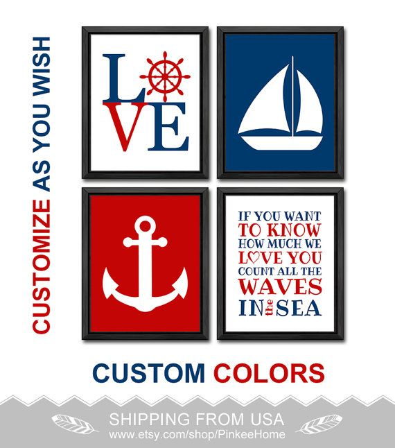 161 best nautical nursery nautical kids art images on pinterest items similar to navy and gray nautical nursery wall art nautical nursery decor personalized nautical baby decor anchor boat nautical baby nursery art on negle Images