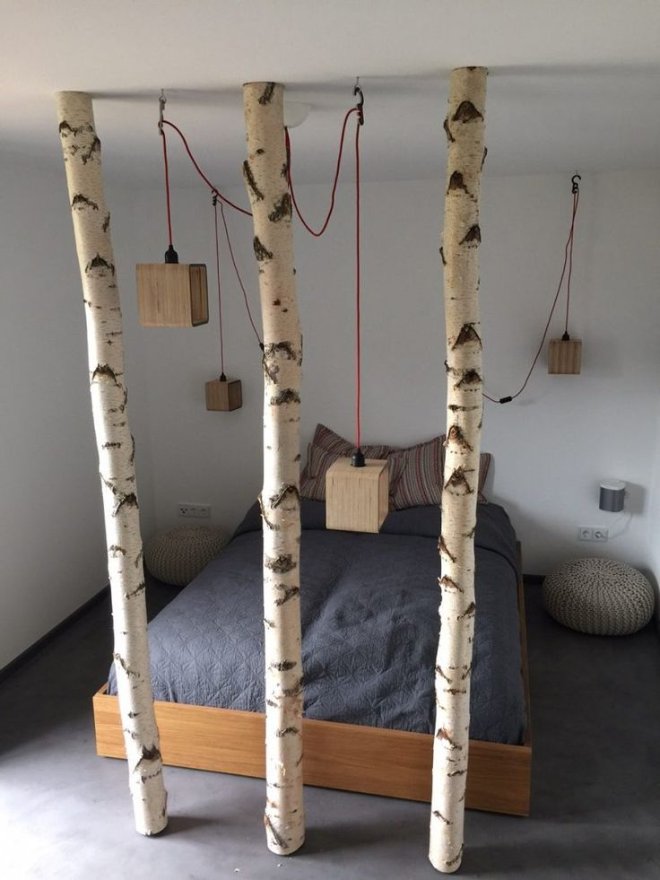 birkenstamm deko bett schlafzimmer how to and tips on decor diy home decor projects birch