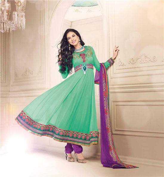 Long Anarkali Salwar Suit starting with 20% OFF