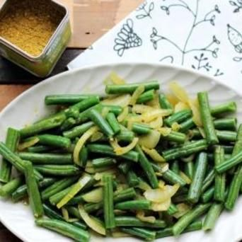 Sperziebonen met citroengras en Original Spices Thai Green Curry: een heerlijk fris maar pittige Thais bijgerecht!