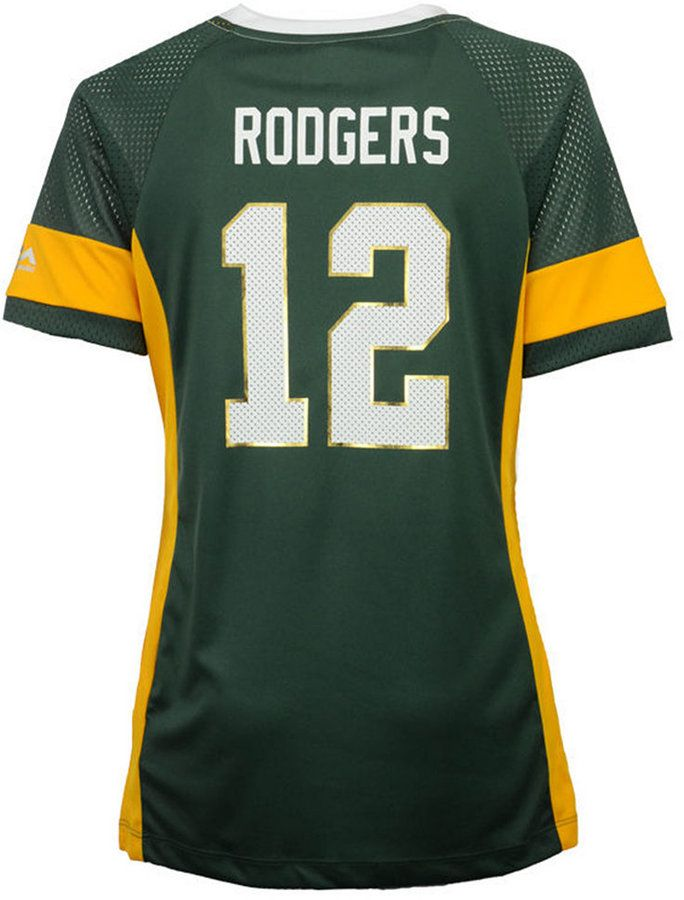 Majestic Women's Aaron Rodgers Green Bay Packers 2017 Draft Him T-Shirt