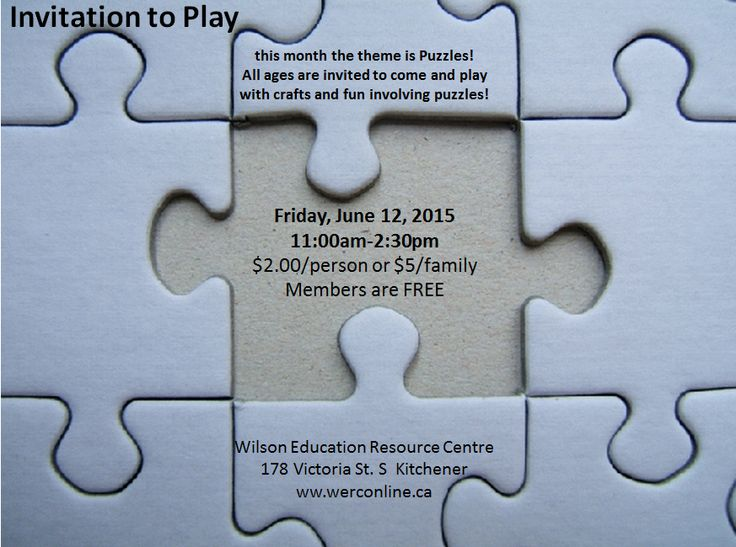 Invitation to Play - Puzzle Day