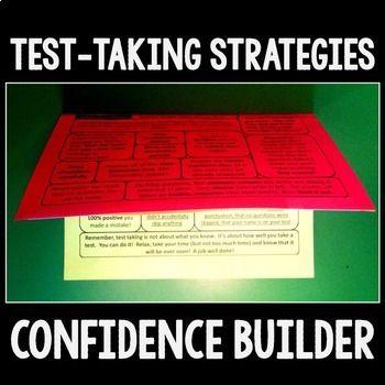 Test prep foldable {Confidence Builder!}