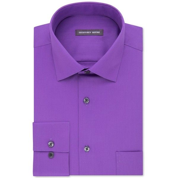 Geoffrey Beene Men's Classic-Fit Wrinkle-Free Sateen Dress Shirt (465 NOK) ❤ liked on Polyvore featuring men's fashion, men's clothing, men's shirts, men's dress shirts, purple, mens dress shirts, mens classic fit shirts, geoffrey beene mens dress shirts, mens purple shirt and mens purple dress shirt