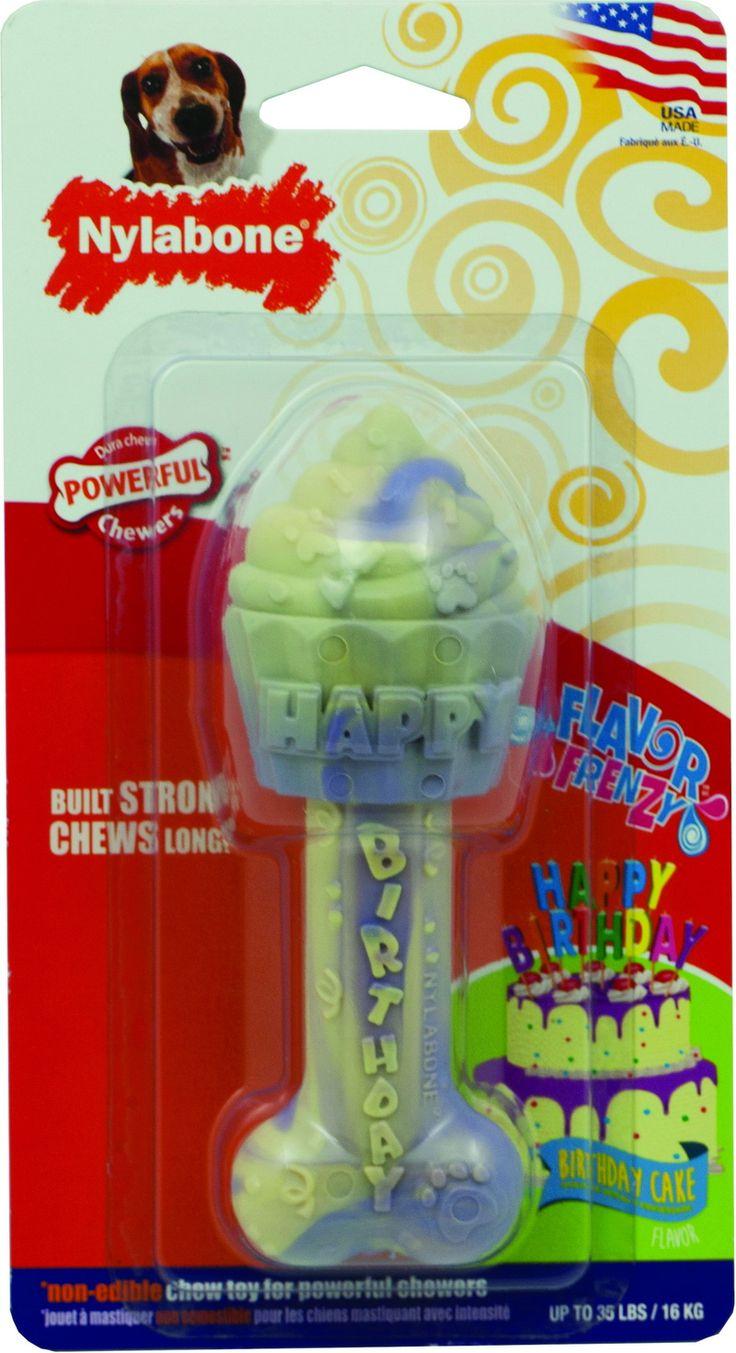 Opentip.com: Nylabone Flavor Frenzy Dura Chew Birthday Cake Dog Chew - Cake - Wolf