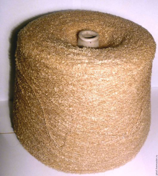 Вязание ручной работы. Ярмарка Мастеров - ручная работа. Купить Пряжа буклированная цвет Легкий загар. Handmade. Буклированная пряжа