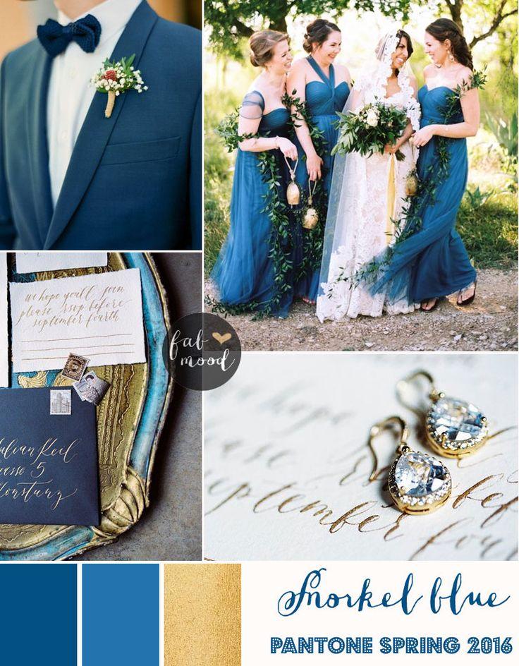 Snorkel blue wedding theme { Pantone Spring 2016 } : http://www.fabmood.com/snorkel-blue-wedding-theme/ #springwedding #bluewedding