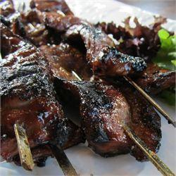Sweet Teriyaki Beef Skewers - Allrecipes.com amazing recipe