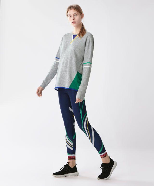 Legging colores - Novedades - Tendencias primavera verano 2017 en Oysho online. Compra los bikinis, bañadores, pijamas, sujetadores o ropa deportiva más soft & chic.