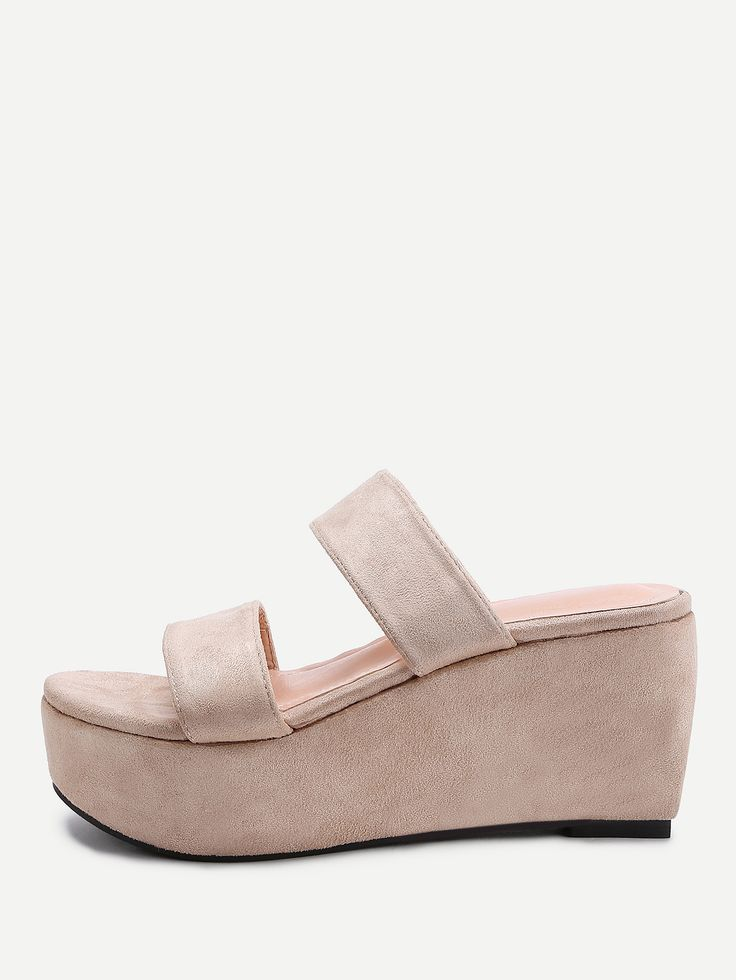 Shop Strappy Wedge Sliders online. SheIn offers Strappy Wedge Sliders & more to fit your fashionable needs.