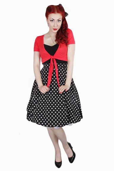 Lovely white dotted black skirt. <3