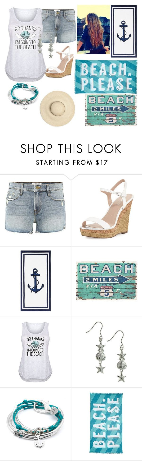 """beach style"" by annabethjames ❤ liked on Polyvore featuring Frame, Charles by Charles David, Pottery Barn, Giani Bernini, Lizzy James, Nordstrom Rack and plus size clothing"