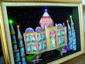 Mahar Uang Bentuk masjid 3D dengan LED  #MaharUang #Wedding #Nikah #Mahar
