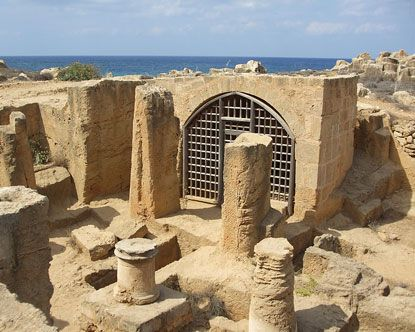 Tombs of the Kings, in Cyprus.