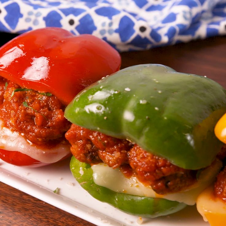 Low-Carb Bell Pepper Meatball Subs