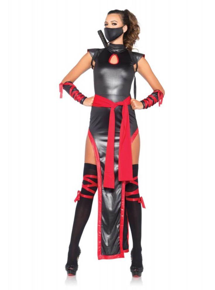 Disfraz de ninja peligrosamente sexy para mujer