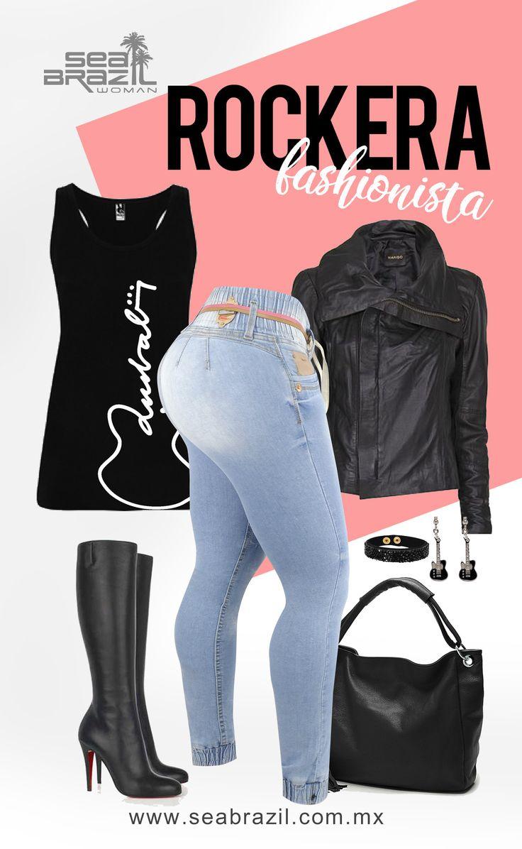 El estilo de chica roquera que es osada y glamorosa irrumpió en el ámbito de la moda en los años sesenta y no parece desaparecer. Rompedora, pasional y sobre todo con mucho estilo y personalidad. El look rockero conseguirá que todas las miradas se fijen en ti. Descubre cómo lograr ese look de pies a cabeza como toda una experta, con #SeaBrazil #Jeans #Moda #Fashion #Tendencia #Trendy #Mujer #Woman #Rockera #LookRockero