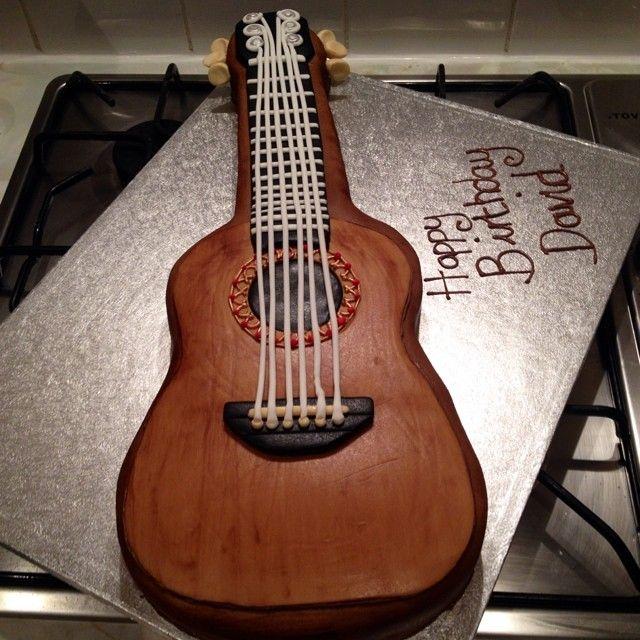 Guitar Themed Cake