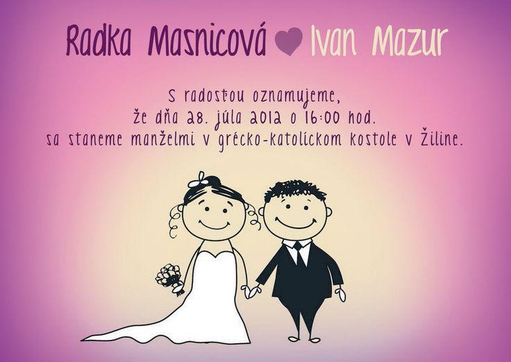 stylové svatební oznámení
