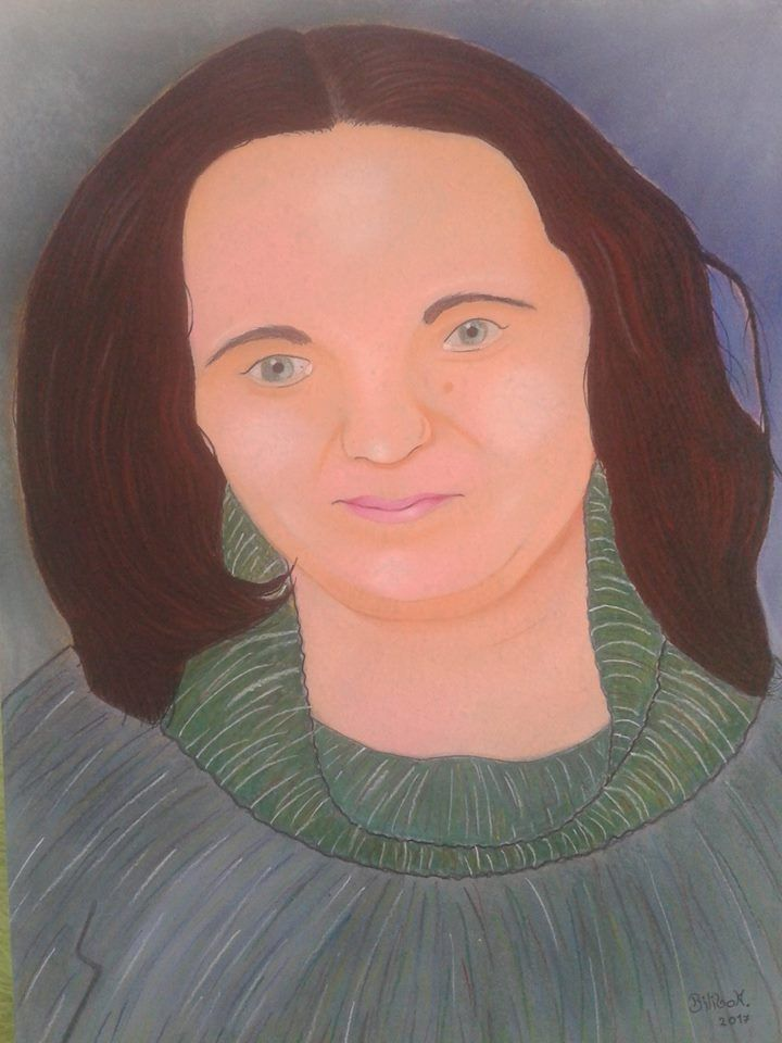 """My mother"" 50x70 pastel,cardboard."