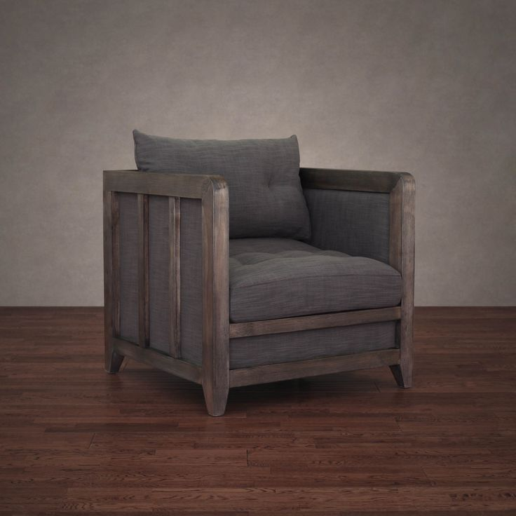 This rustic-chic Creston arm chair features comfortable and durable fire retardant foam cushioning, and a beautiful solid wood framing in a reclaimed finish. Bring comfort and style to any room with this versatile contemporary arm chair.