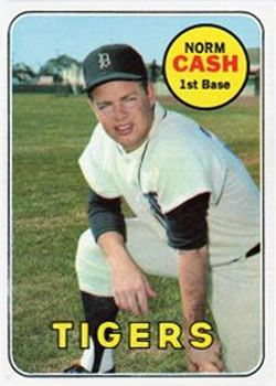 1969 Topps #80 Norm Cash Front