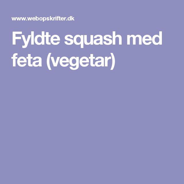 Fyldte squash med feta (vegetar)