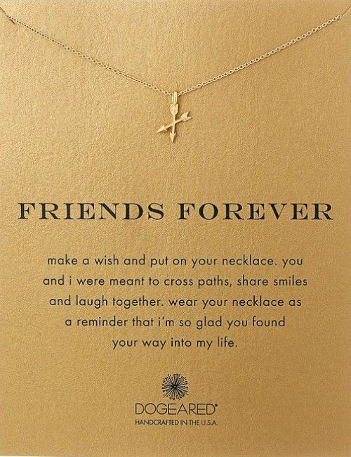 Friends are meant to cross paths, share smiles and laugh together. Friends Forever Necklace. Gifts for best friends.
