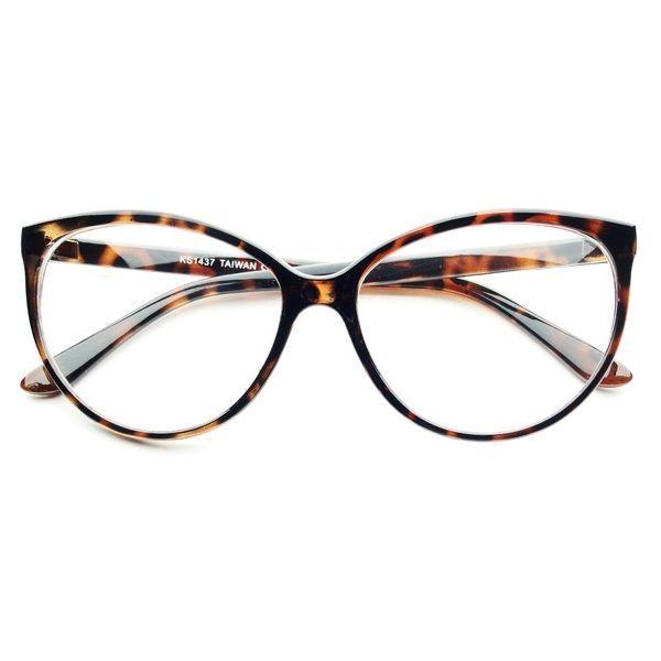 Large Clear Lens Retro Vintage Fashion Cat Eye Eye Glasses Frames Tortoise C222