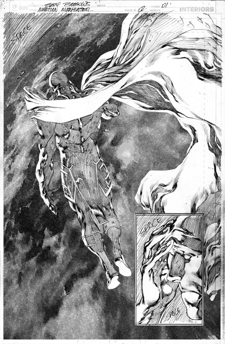 Martian Manhunter #2 p.1 by Eddy Barrows *