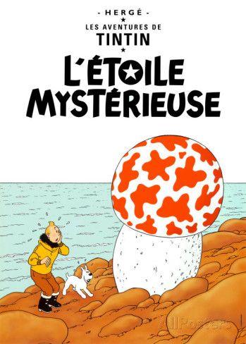 L'étoile mystérieuse (1942) Affiche par Hergé (Georges Rémi) sur AllPosters.fr