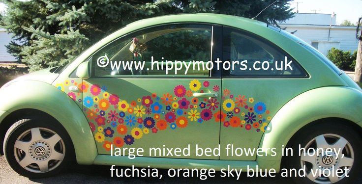 large mixed flower car decals stickers by hippymotors  https://www.hippymotors.co.uk/Mixed+Flower+Bed+car+stickers